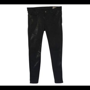 ALLSAINTS Black Coated Spitafields Jeans / 29